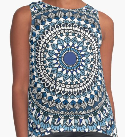 Deep blue sea mandala Sleeveless Top