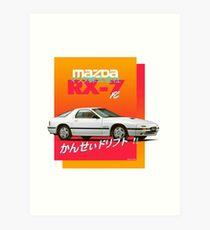 Lámina artística Mazda RX-7 FC