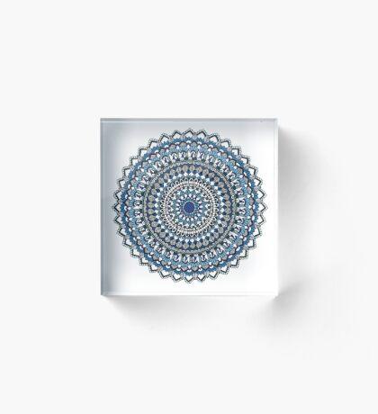 Deep blue sea mandala Acrylic Block