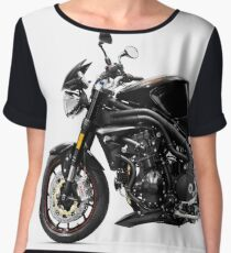 Triumph Speed Triple motorbike T-shirt design Women's Chiffon Top
