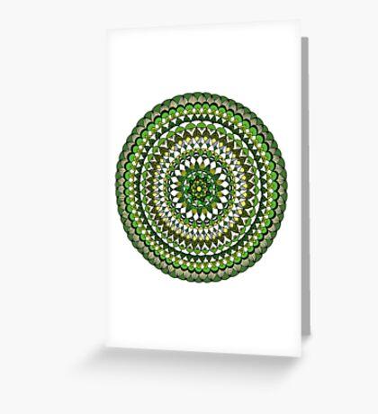 Evergreen Mandala Greeting Card