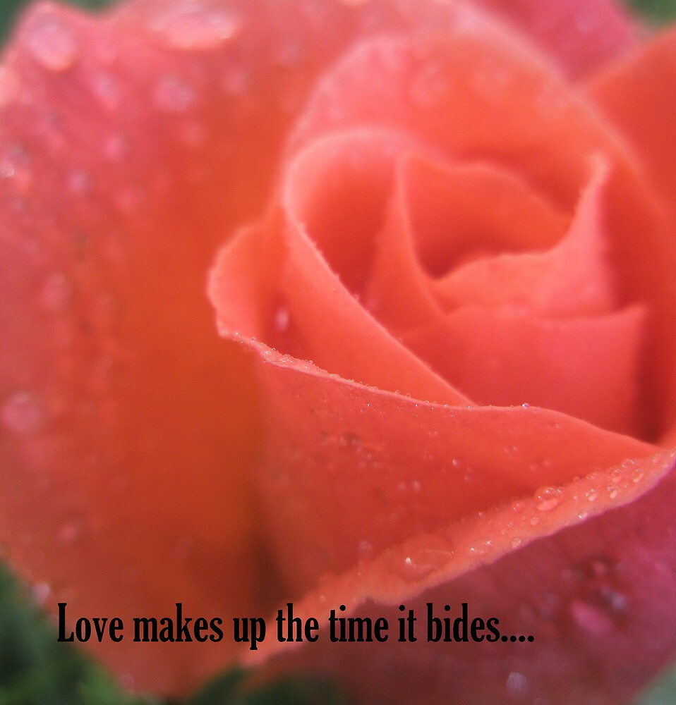 Love makes up the time it bides... by Melissa Park