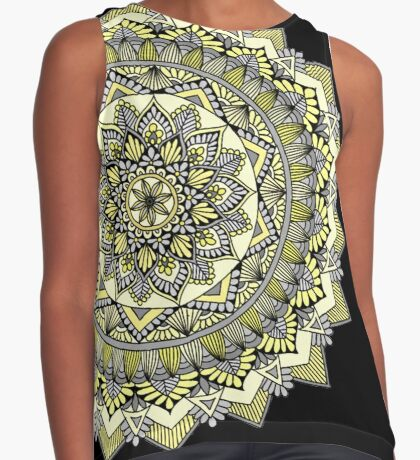 Sweet yellow mandala Sleeveless Top