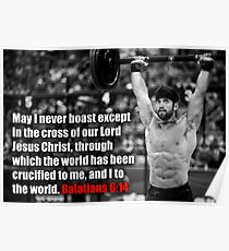 Rich Froning - CrossFit - Galater 6:14 Poster