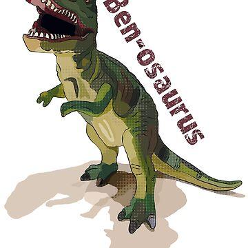 Ben-osaurus T-Rex Gift for Ben Benjamin by BeeFoxTree