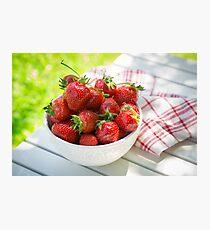 Erdbeeren II Fotodruck