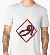 A - Tamil Rose Petal Design Men's Premium T-Shirt