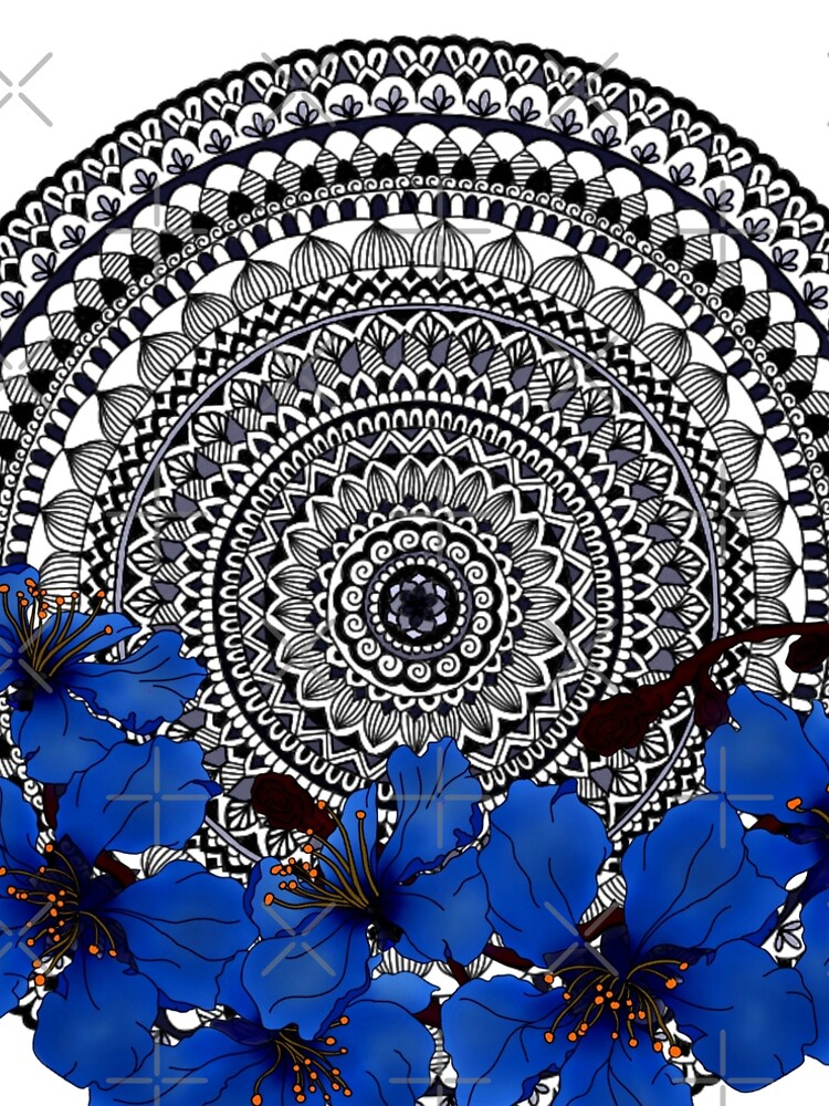 blue magnolia mandala by paviash
