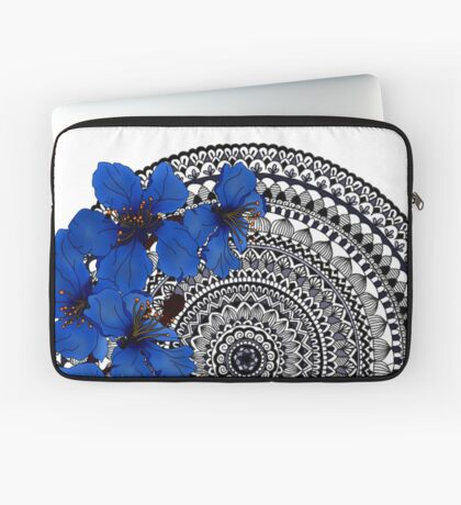 blue magnolia mandala Laptop Sleeve