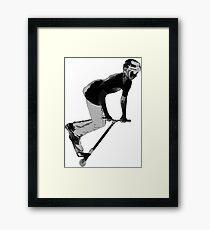 Speedster - Stunt Scooter Boy Framed Print