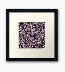 Leopard Pink Gerahmtes Wandbild