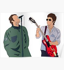 Liam and Noel Gallagher Poster