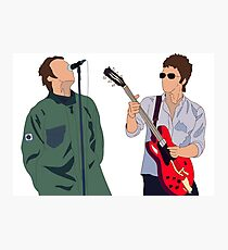 Liam and Noel Gallagher Photographic Print