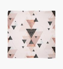 Geometric Triangles in blush and rose gold Scarf