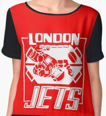 London Jets, white - Red Dwarf Chiffon Top