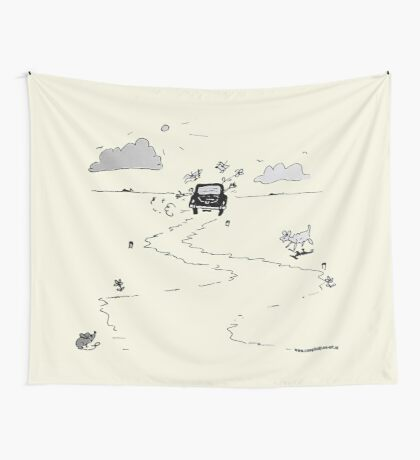 Going on vacation Wall Tapestry