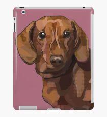 Daschund - Teddy Sausage Dog on Pink iPad Case/Skin
