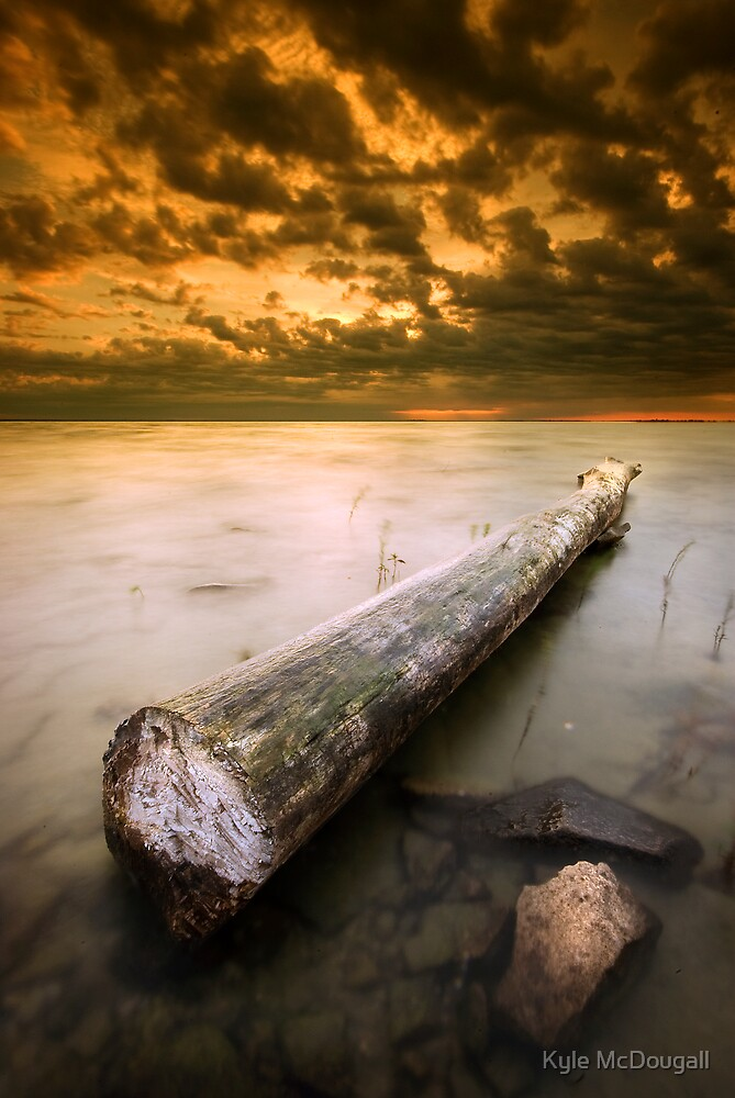 A Simple Sea at Sunset by Kyle McDougall