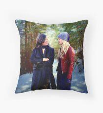 Swan Queen Winter Stroll Throw Pillow