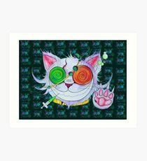 Psychocat Art Print