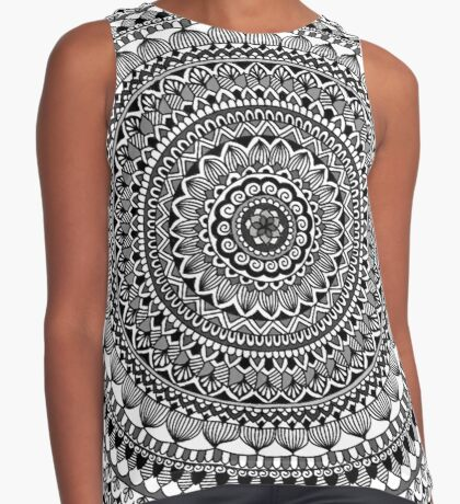 Black Moon Mandala Sleeveless Top