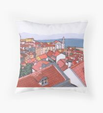 Portuguese Roofs  Throw Pillow
