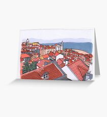 Portuguese Roofs  Greeting Card