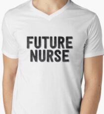 Future Nurse Drawn - Cool Doctor Sticker T-Shirt Pillow Men's V-Neck T-Shirt