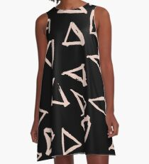 Pink Triangles A-line Dress A-Line Dress