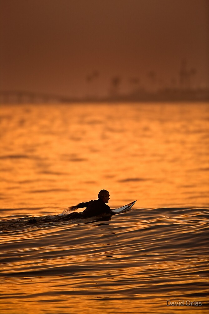 Paddling Out by David Orias
