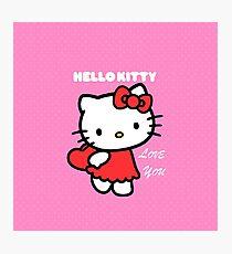 Hello Kitty love you Photographic Print