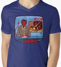 Camiseta para hombre de cuello en v Noticias de última hora