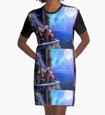 Regal Believer - An Enchanted Forest Christmas Graphic T-Shirt Dress