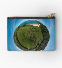 Kinnagoe Bay (as a floating green planet) Studio Pouch
