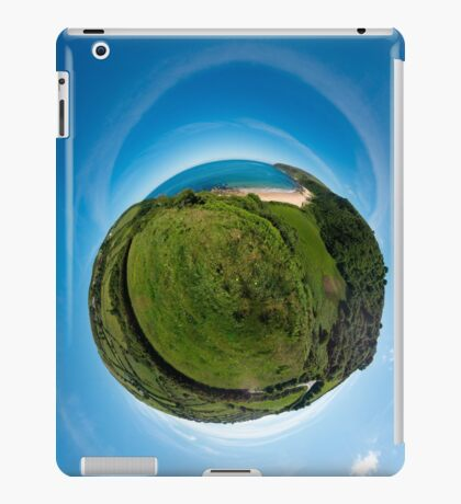 Kinnagoe Bay (as a floating green planet) iPad Case/Skin