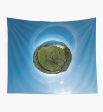Kinnagoe Bay (as a floating green planet) Wall Tapestry