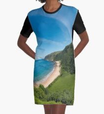 Kinnagoe Bay Panorama Graphic T-Shirt Dress