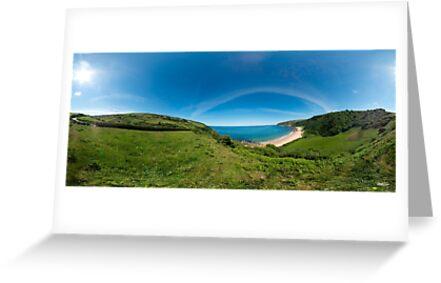 Kinnagoe Bay Panorama by George Row