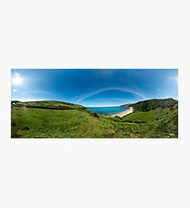 Kinnagoe Bay Panorama Photographic Print