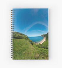 Kinnagoe Bay Panorama Spiral Notebook