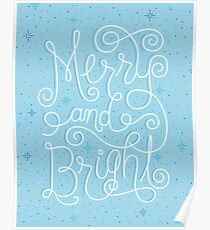 Merry and Bright Ice Blue  Poster