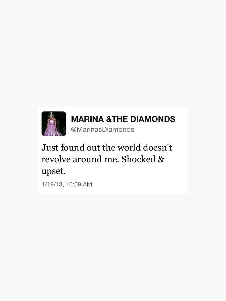 Marina und die Diamanten tweeten von graceyaldoo