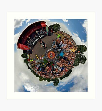 Teenage kicks - The Undertones play Brooke Park Art Print