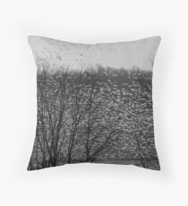 Snow Geese on the move !!! Throw Pillow