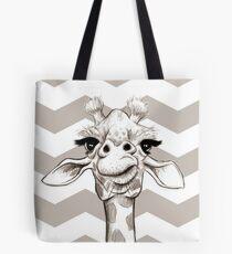 Sketch Giraffe Tote Bag