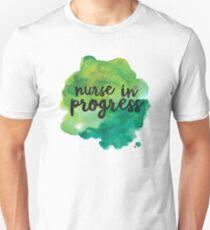 Nurse In Progress Watercolor - Cool Nurse Sticker T-Shirt Pillow Unisex T-Shirt