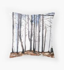 The colour of Winter is in the imagination Throw Pillow
