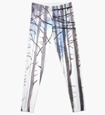 The colour of Winter is in the imagination Leggings