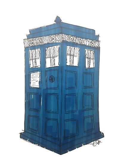 Tardis - Dr Who by Sonny Lazarus