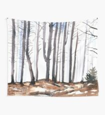 The colour of Winter is in the imagination Wall Tapestry